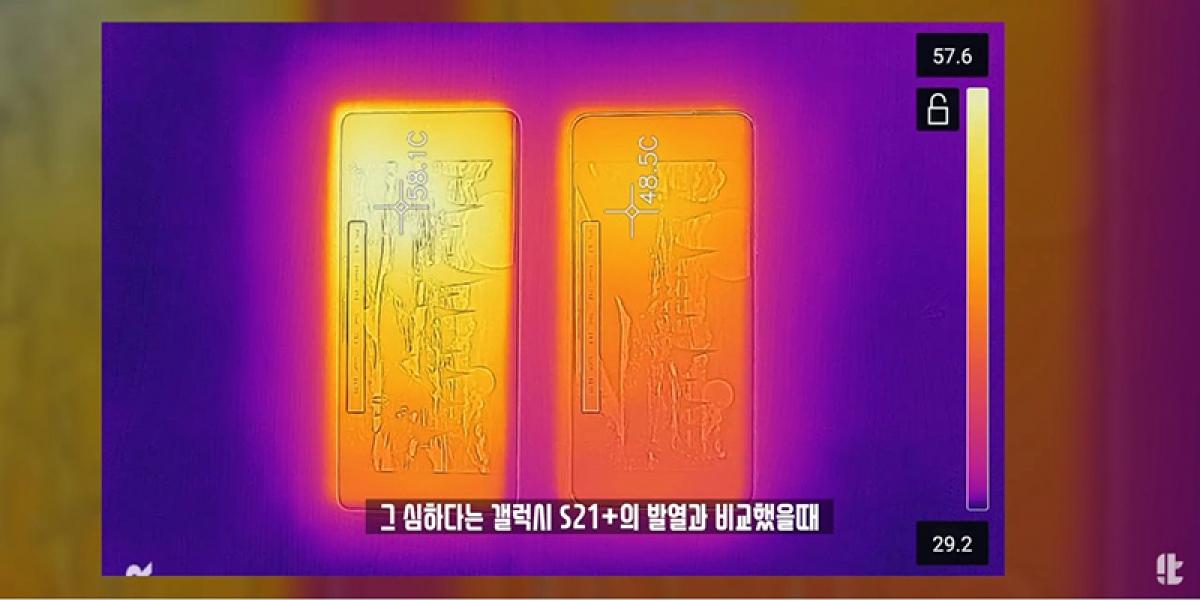 LG Velvet 2 Pro (trái) được cho là nóng hơn khi hoạt động so với Galaxy S21+ (phải).