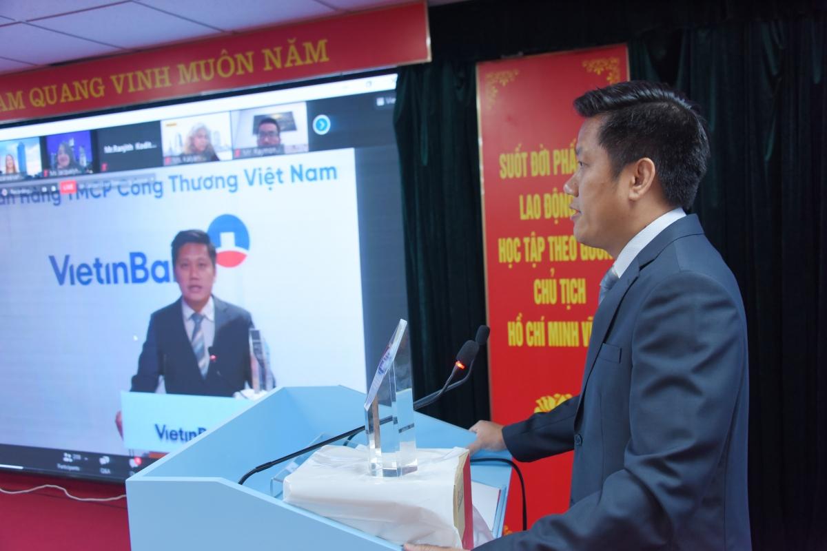 Ông Lê Duy Hải – Giám đốc Khối KHDN VietinBank phát biểu tại buổi lễ.