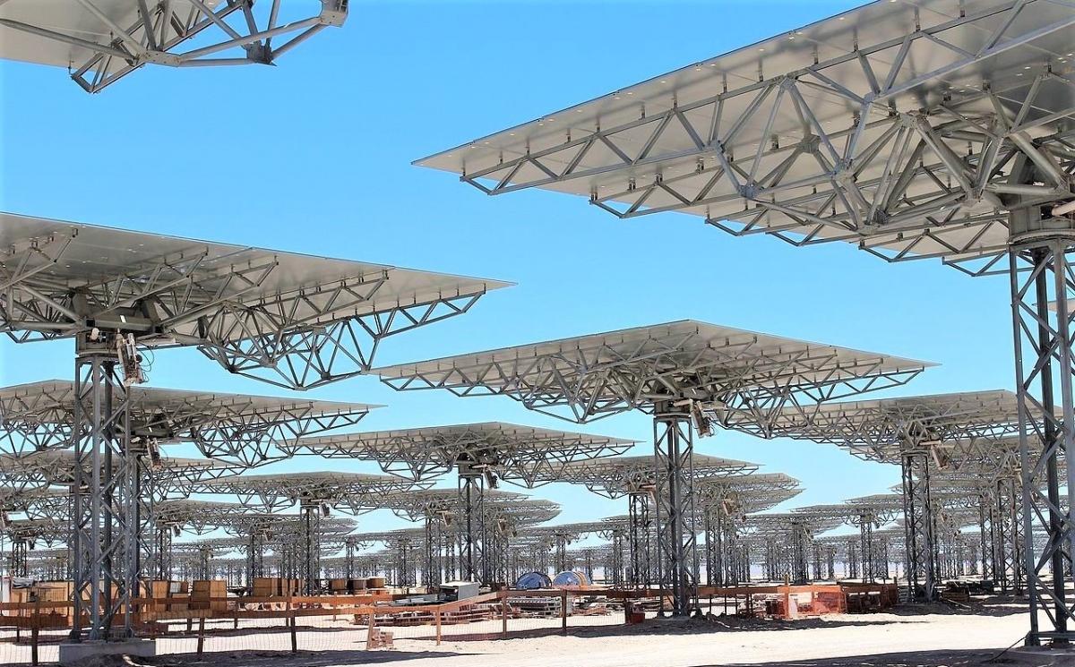 Cerro Dominador là dự án nhiệt điện mặt trời lớn nhất Mỹ Latinh, có công suất 210 MW. Ảnh: wikipedia.org