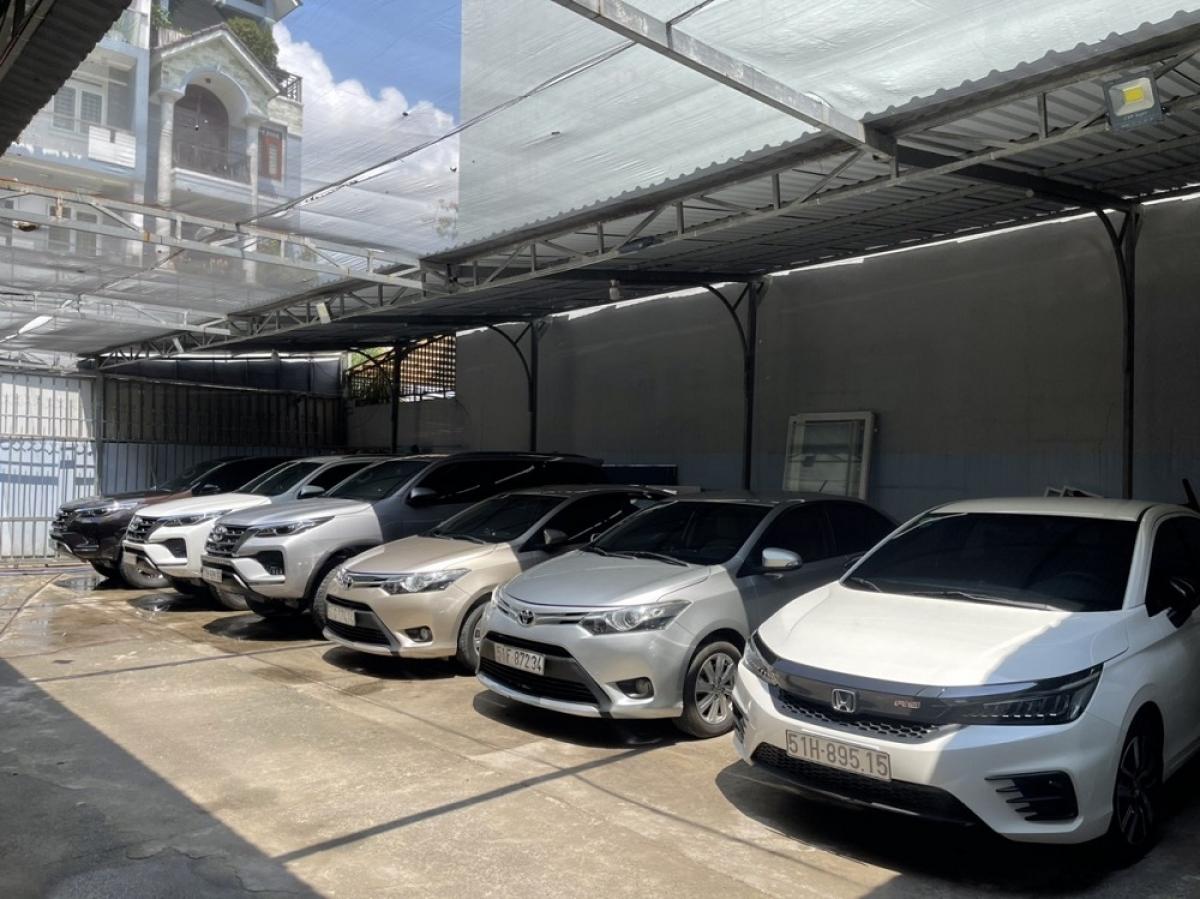 Dàn xe hiện có tại Hợp Tác Xã Gia Khang chuẩn bị phục vụ tốt nhất cho khách hàng