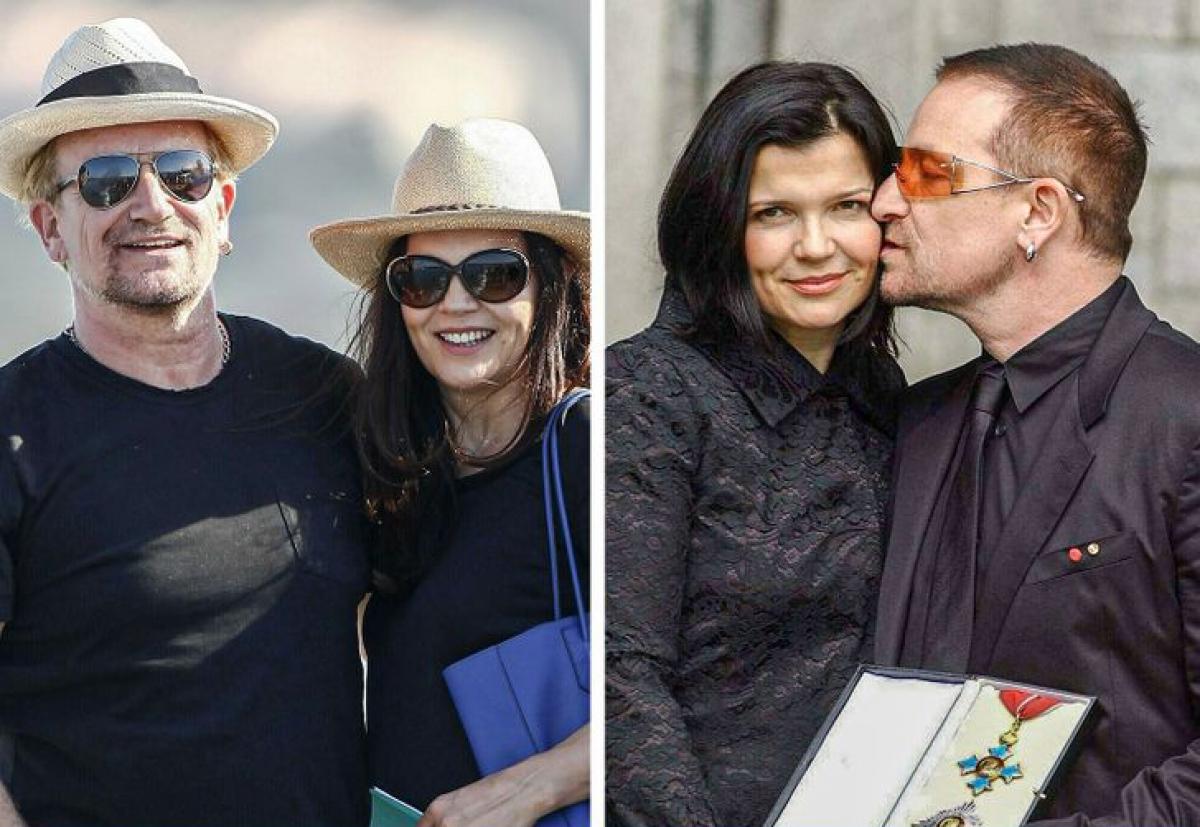 Bono và Ali Hewson:Thủ lĩnh nhóm U2 và vợ Ali Hewson đãkết hônhơn 40 năm và có 4 người con.Trong một cuộc phỏng vấn nhân kỷ niệm ngày cưới, Bono cho biết họđã gặp nhauở trường trung học.