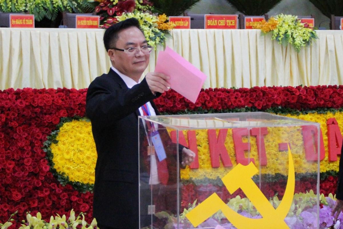 Ông Hoàng Vũ Thảnh tại Đại hội đại biểu Đảng bộ TP Vũng Tàu khoá VII nhiệm kỳ 2020-2025.