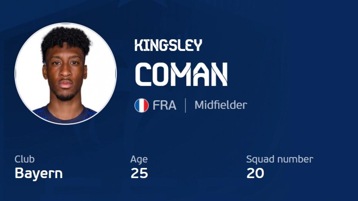 3. Kingsley Coman 33,7 km/h.