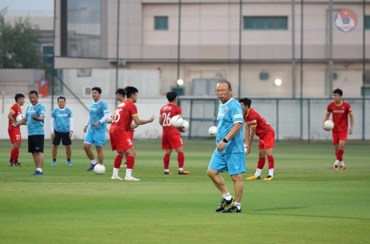 Đêm 8/6 (giờ Việt Nam), thầy trò HLV Park Hang Seo tiếp tục ra sân tập luyện để hướng tới trận đấu với Malaysia ngày 11/6.
