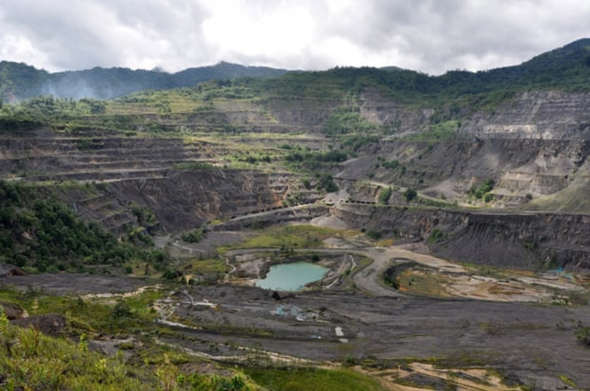 Mỏ khai khoángPanguna ởPapua New Guinea. Ảnh: AAP.