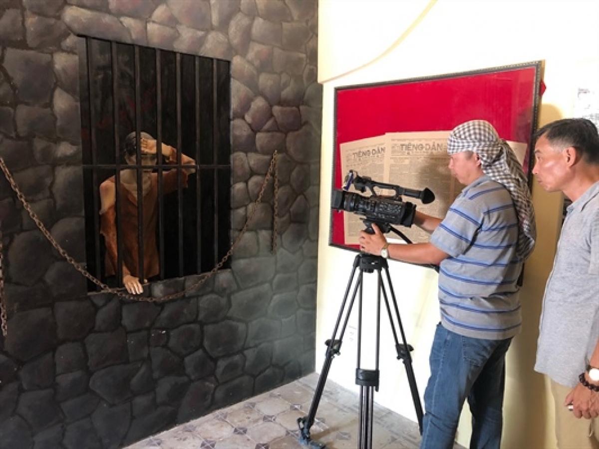 Một cảnh quay của đoàn làm phim