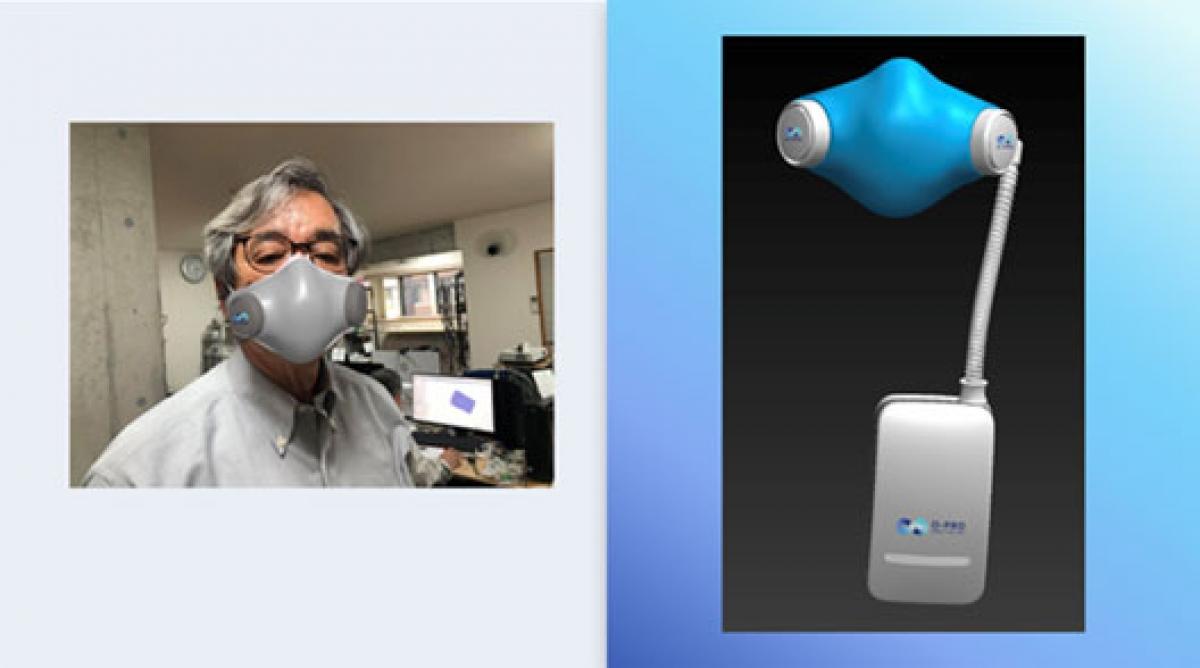"""Dự án """"Khẩu trang không khí của tương lai""""của nhà phát minh Trần Ngọc Phúc(ảnh: NVCC)"""