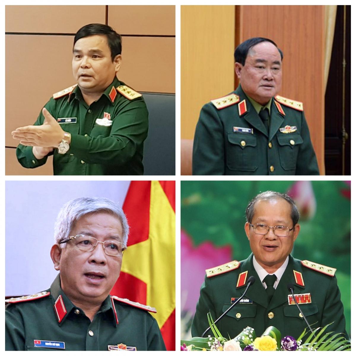4 Thượng tướng quân đội thôi làm Thứ trưởng Bộ Quốc phòng