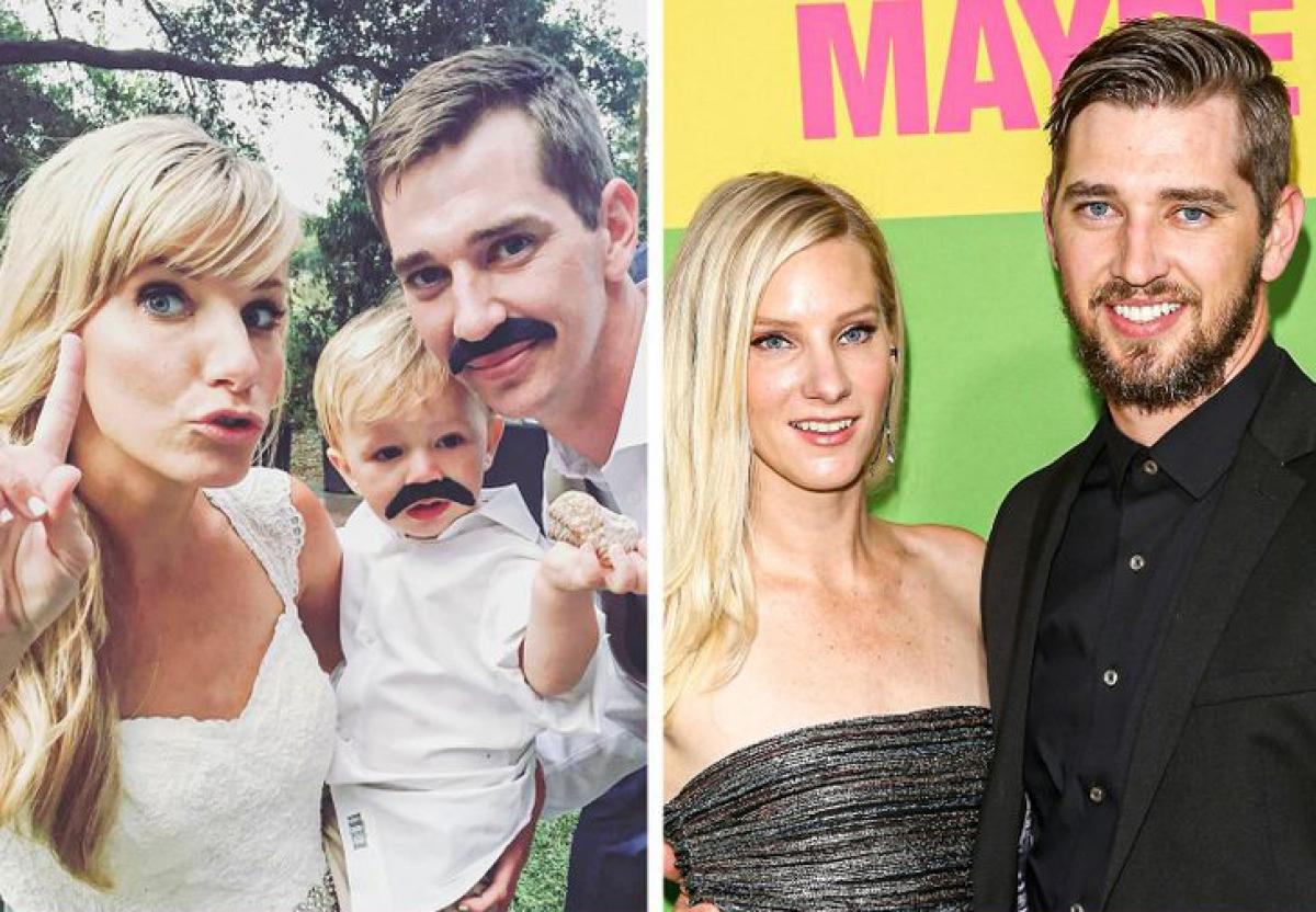 """Heather Morris và Taylor Hubbell: Ngôisao Glee và chồng Taylor Hubbell gặp nhau từ thời trung học, nhưng mối quan hệ của họ bắt đầu sau khi Hubbell đã liên lạc với cô ấy qua Myspace.Nữ diễn viên ngay lập tức cảm thấy họ muốn ở bên nhau, cô nói: """"Tôi muốn lấy anh ấy.Đó là điều tôi thực sự quan tâm.Tôi muốn kết hôn với Taylor và có con với anh ấy, """"cônói.Cặp đôi kết hôn từ năm 2015 và có với nhau 2 mặt con."""