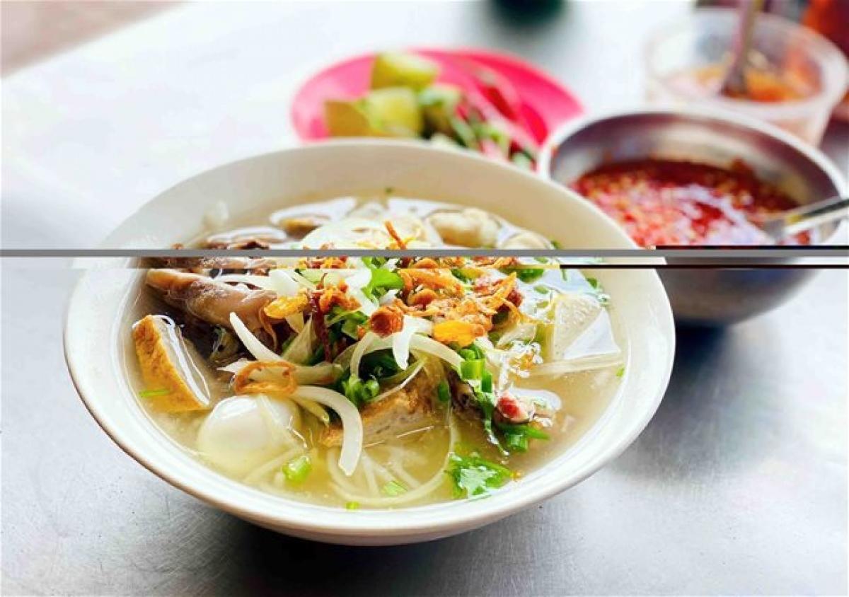 A bowl of Nha Trang-style noodle soup