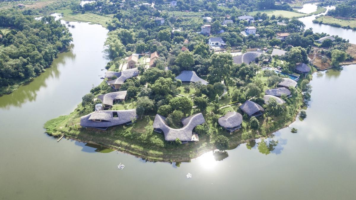 Các khu nghỉ dưỡng ở ngoại thành ngày càng thu hút du khách Hà Nội. Nguồn: Tomodachi RetreatLàng Mít
