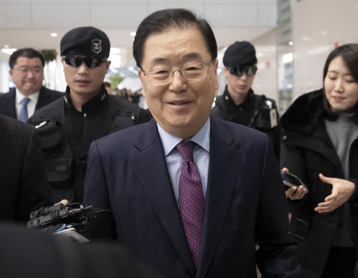 Ngoại trưởng Hàn Quốc Chung Eui-yong. Ảnh: AP