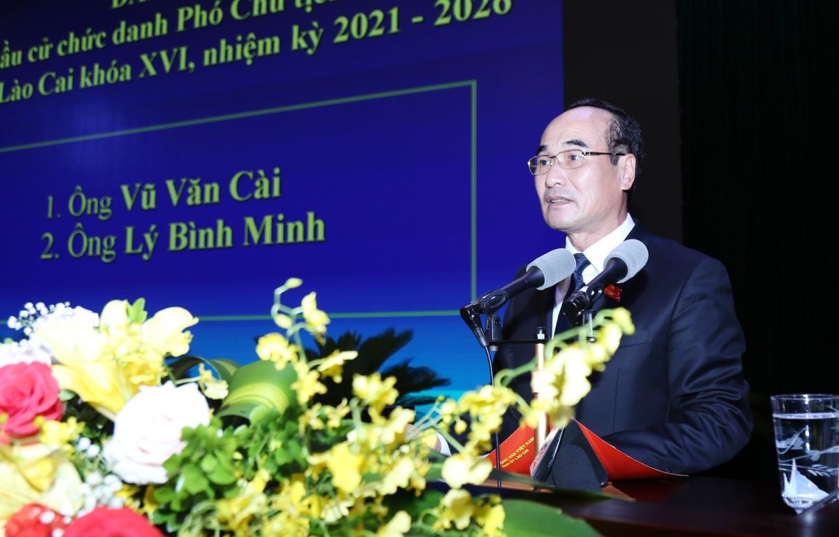 Tân Chủ tịch HĐND tỉnh Lào Cai - ông Vũ Xuân Cường