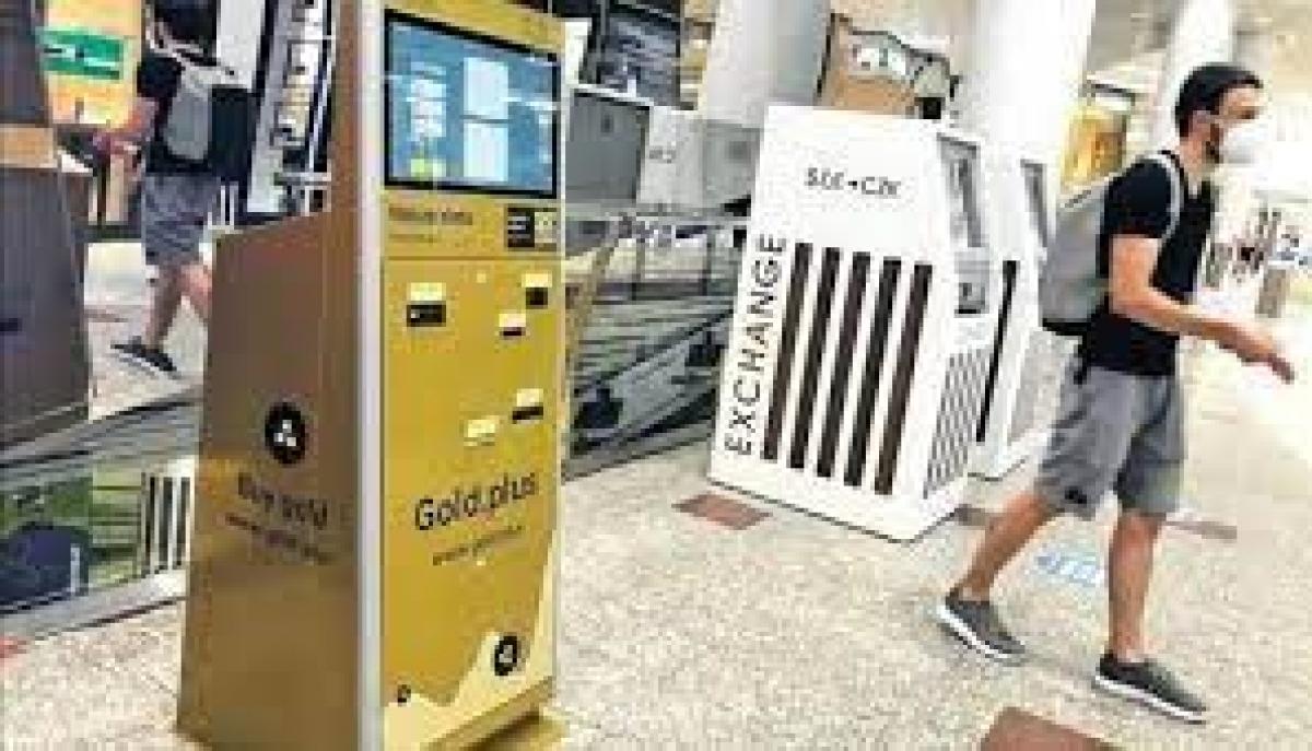 Một máy bán vàng tự động của Công ty Gold.plus