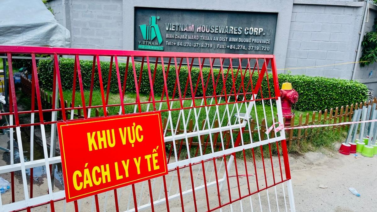 Công ty Việt Nam House Wares bị phong tỏa do có ca mắc Covid-19