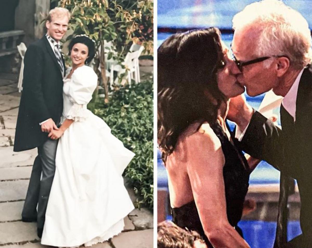 Julia Louis-Dreyfus và Brad Hall:Nữ diễn viên kiêm diễn viên hài kết hôn với người yêu thời đại học Brad Hall vào năm 1987. Cả hai hạnh phúc bên nhau đến tận bây giờ