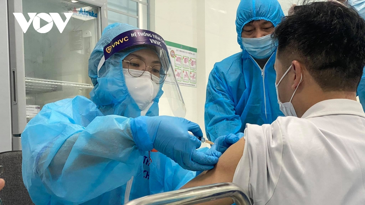 Healthcare workers are among those given COVID-19 vaccine shots