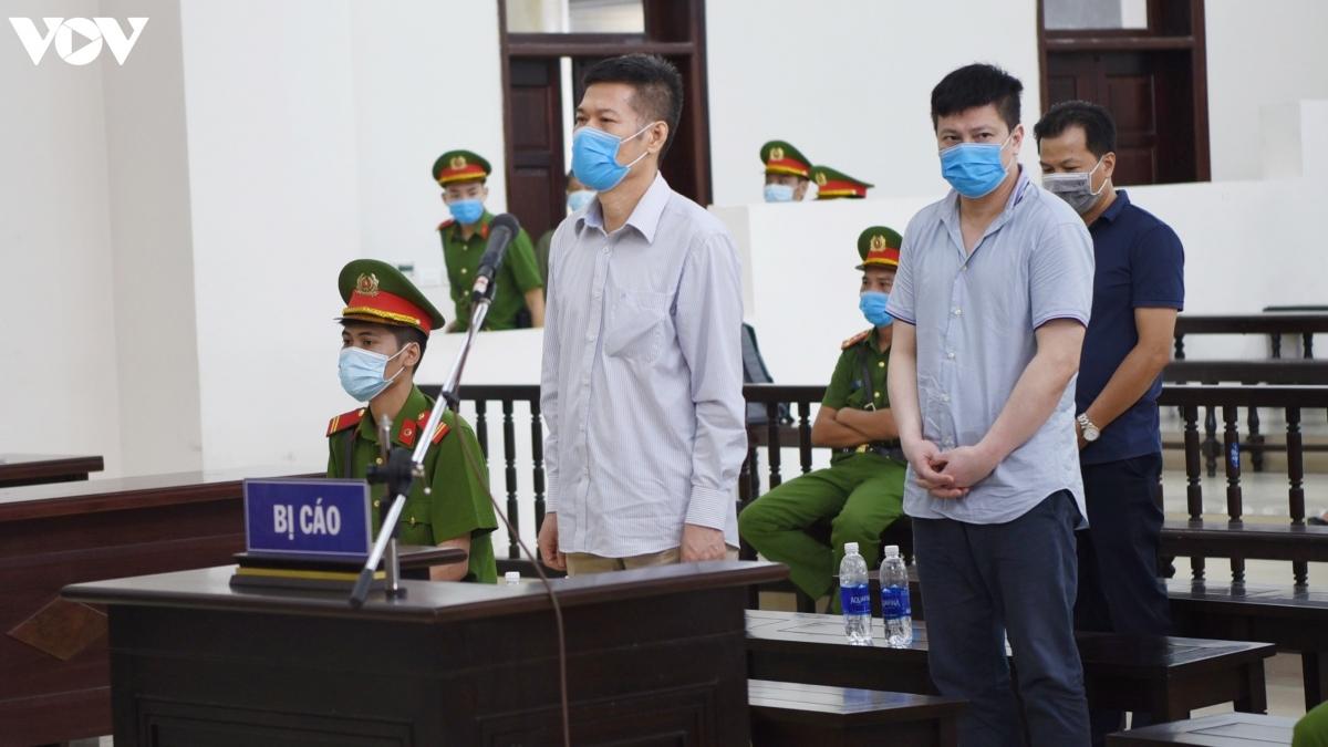 Cựu Giám đốc CDC Hà Nội - Nguyễn Nhật Cảm tại phiên tòa phúc thẩm. (Ảnh: Trọng Phú)