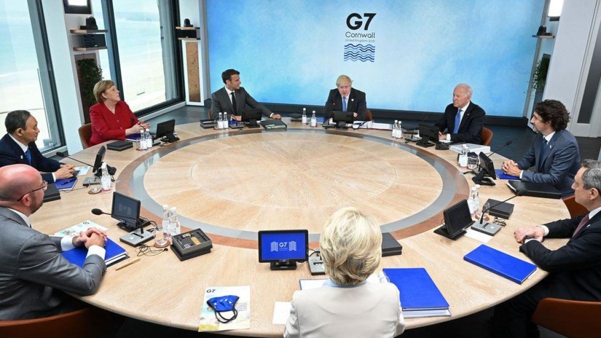 Hội nghị Thượng đỉnh G7 ở Cornwall, Anh. Ảnh: Getty