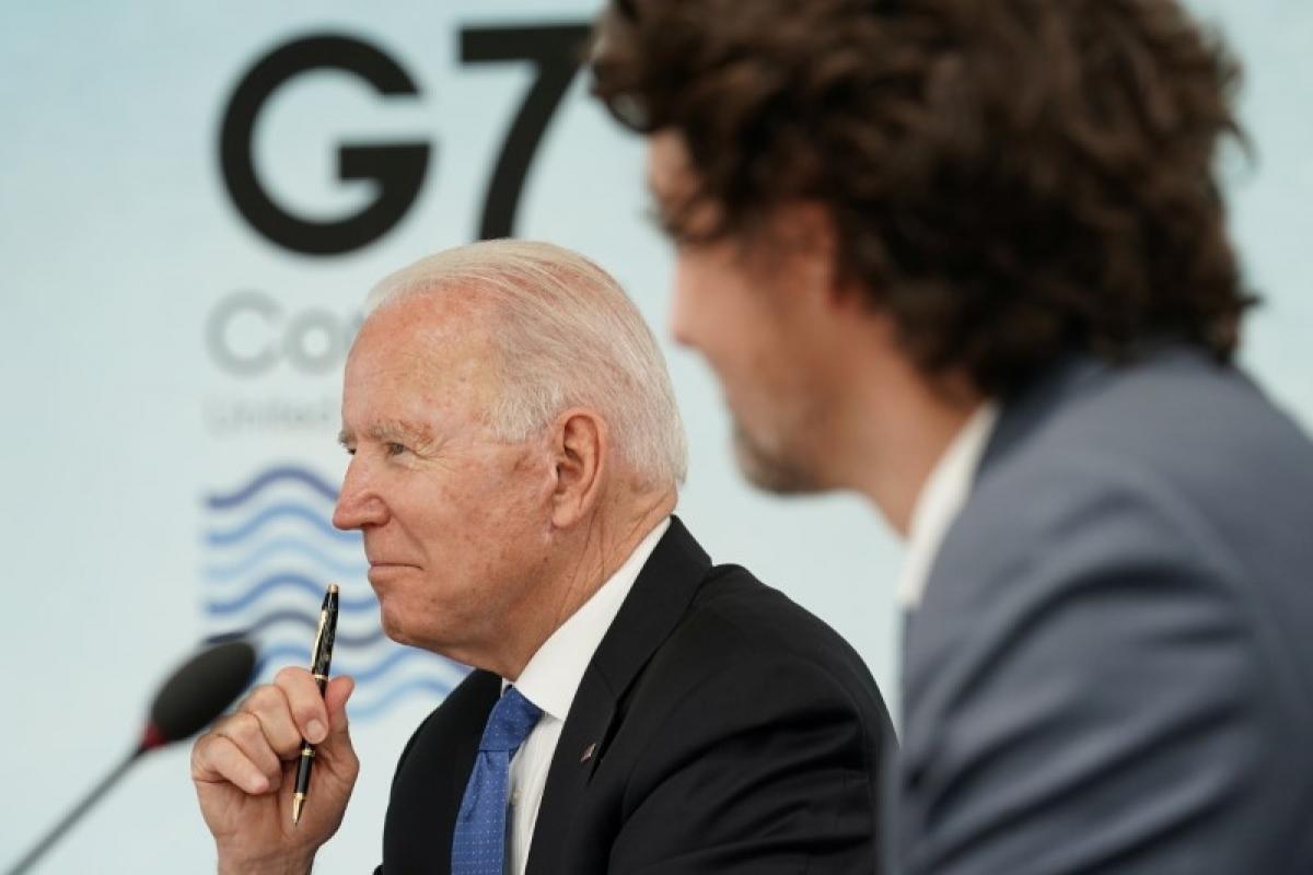 Tổng thống Mỹ Joe Biden dự Thượng đỉnh G7. Ảnh: Reuters