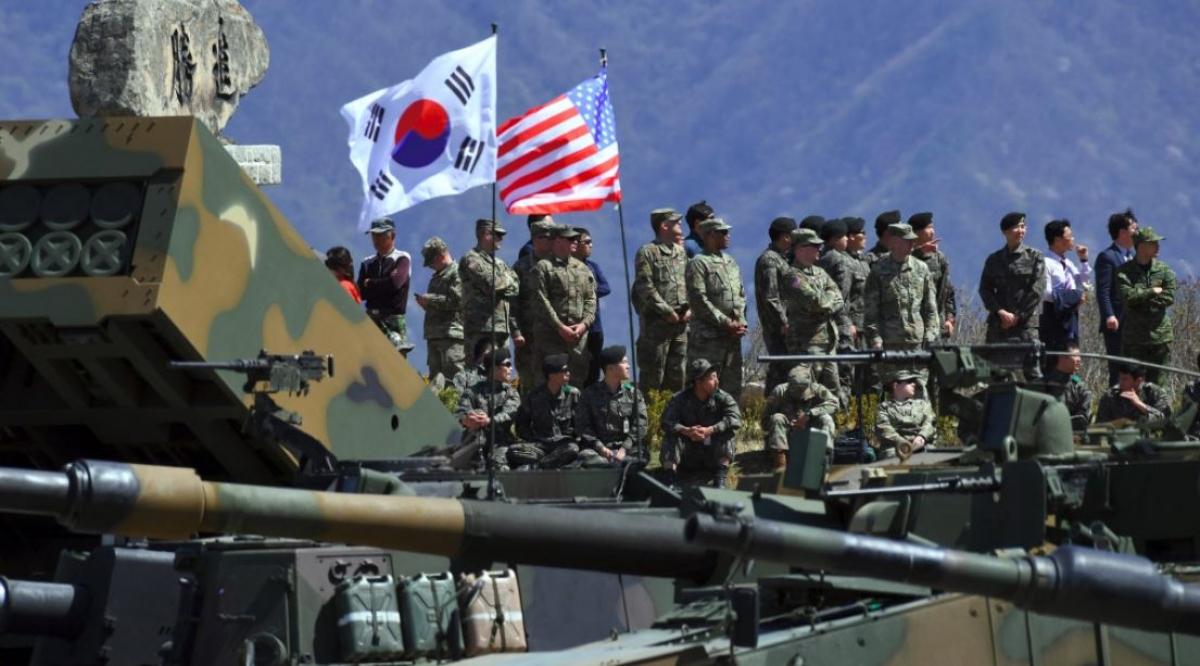 Tập trận Mỹ - Hàn. Theo: Financial Times