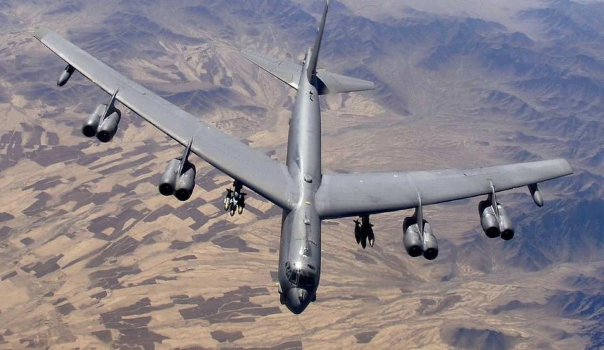 Máy bay ném bom hạt nhân chiến lược Boeing B-52H Stratofortress. Ảnh: Không quân Mỹ