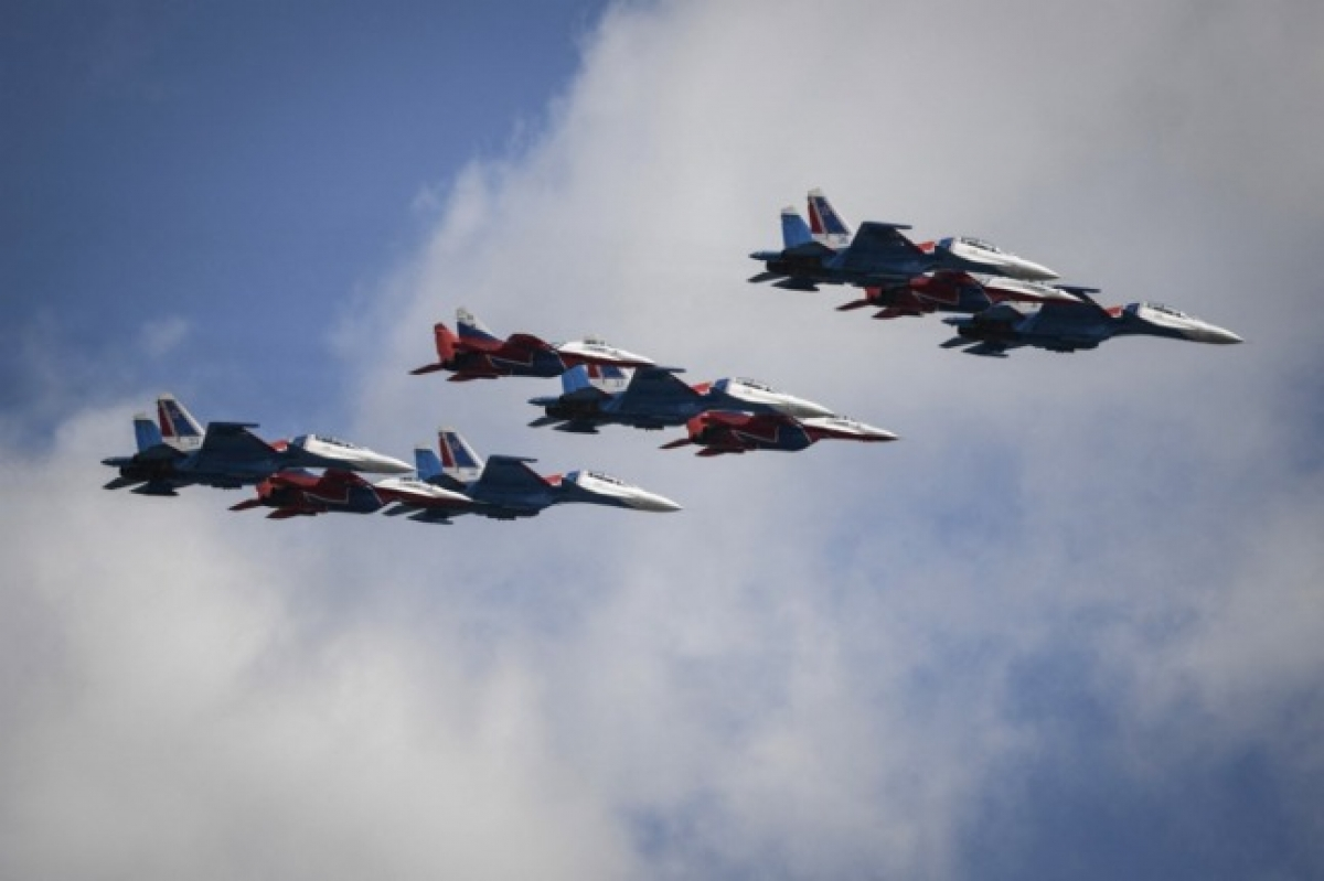Các chiến đấu cơ MiG của Nga. Ảnh: AFP