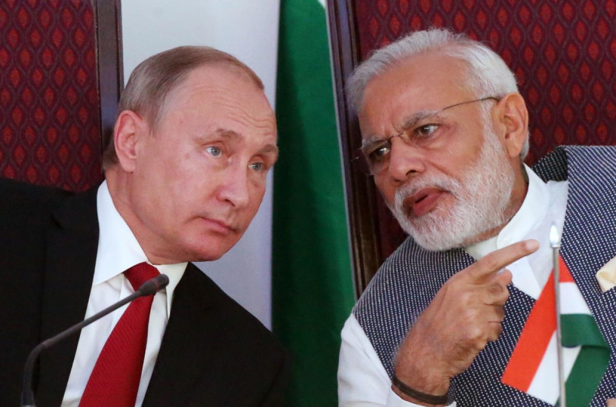 Tổng thống Nga Vladimir Putin và Thủ tướng Ấn Độ Narendra Modi. Ảnh: Getty