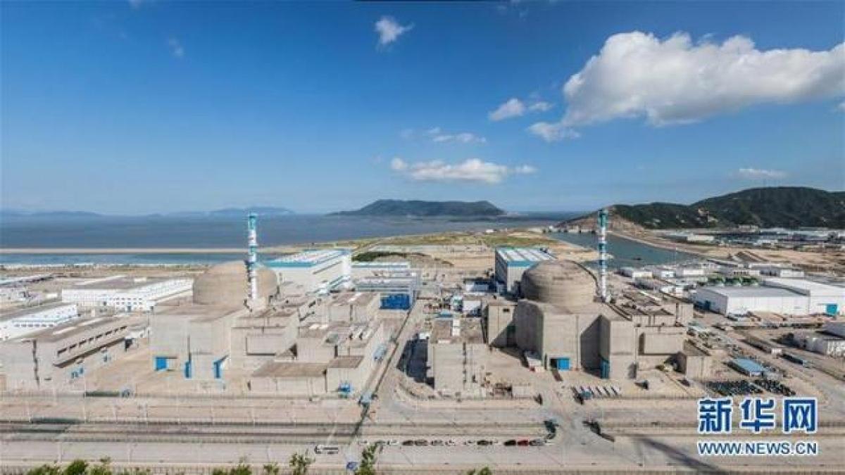 Giai đoạn 1 Nhà máy điện hạt nhân Đài Sơn. Ảnh: Tân Hoa xã