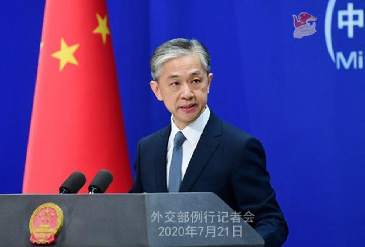 Người phát ngôn Bộ Ngoại giao Trung Quốc Uông Văn Bân. Ảnh: Bộ Ngoại giao Trung Quốc