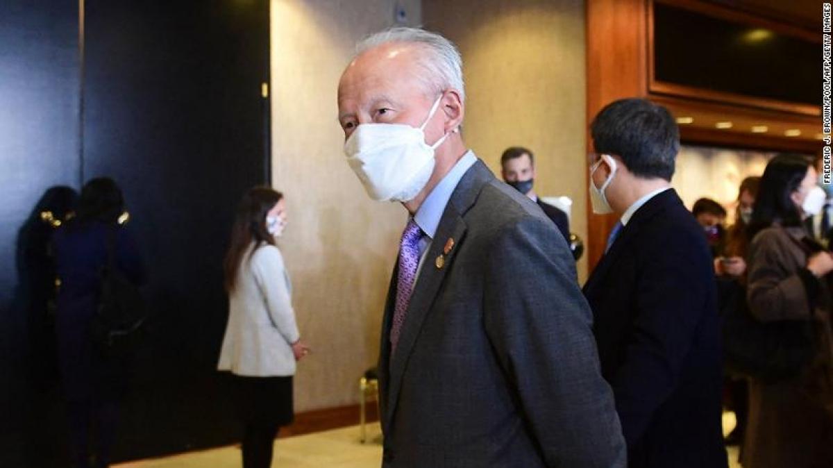 Đại sứ Trung Quốc tại Mỹ Thôi Thiên Khải. Ảnh: CNN