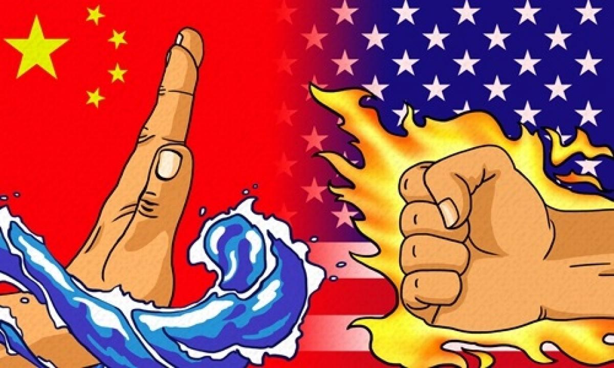 Hình ảnh minh họa về đối đầu Mỹ-Trung. Ảnh: Global Times.