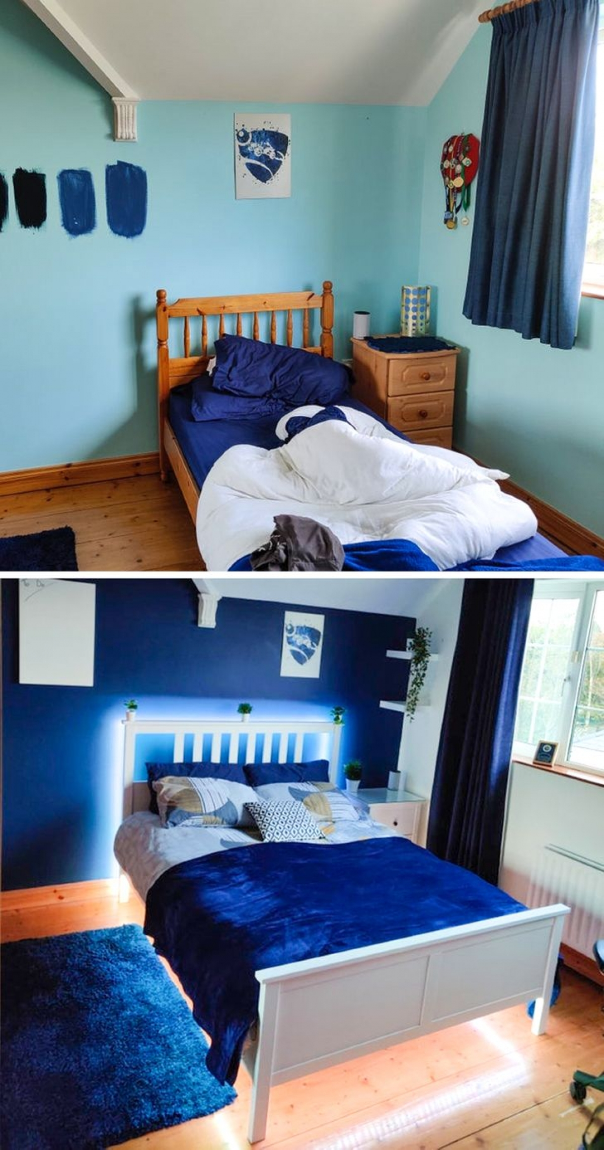 Phòng ngủ trước và sau quá khác biệt nhờ ý tưởng thông minh và sáng tạo./.