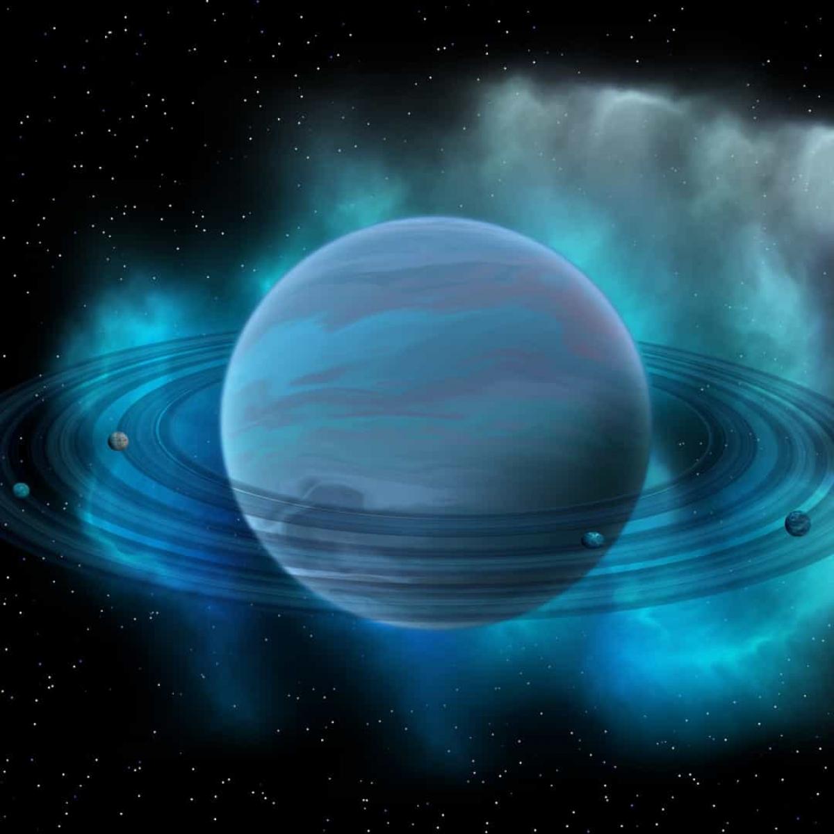 Sao Hải Vương cũng có những vành đai như sao Thổ. Những vành đai này được tạo thành từ bụi và băng.