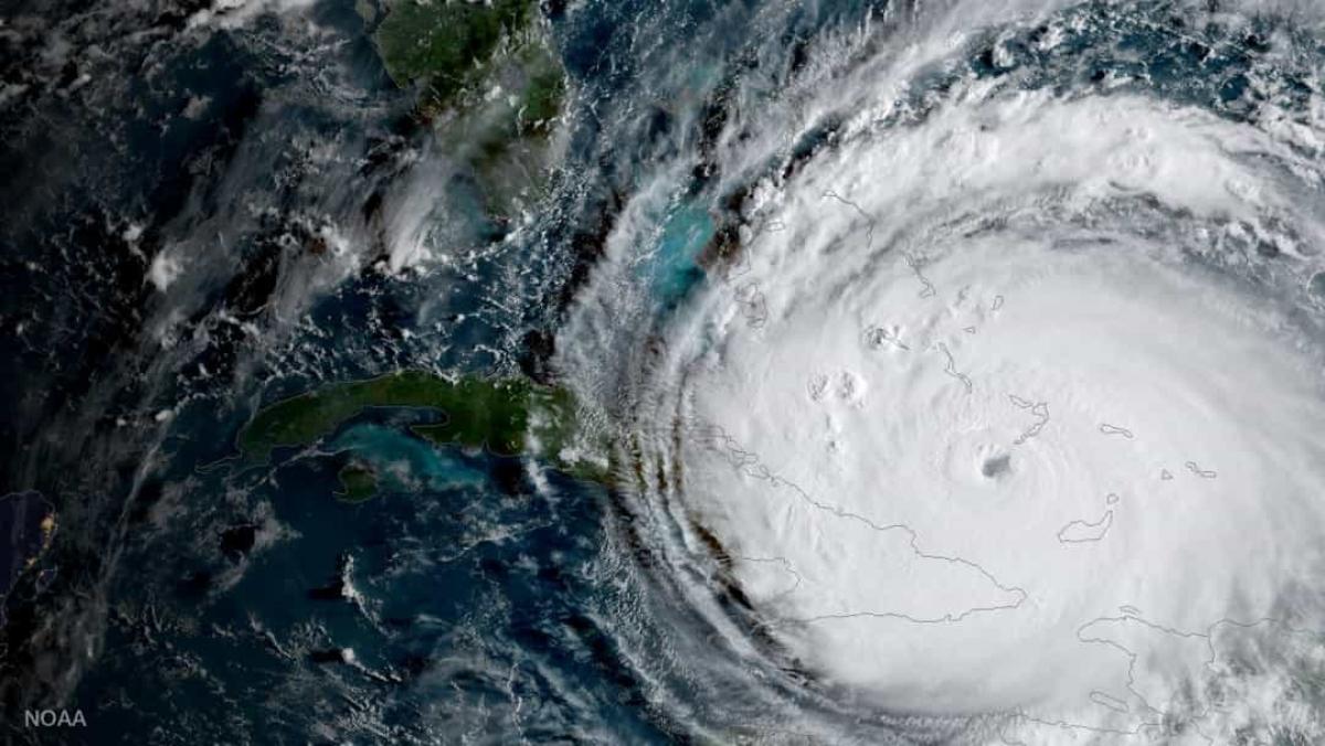 Cơn bão Irma cấp 5 đang tiến về phía Florida, Mỹ khi nhìn từ không gian.