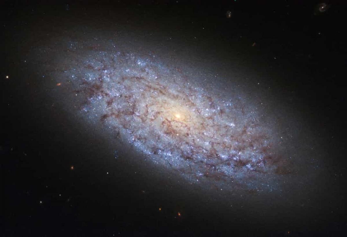 NASA ghi lại hình ảnh đẹp như tranh vẽ của một thiên hà lùn mang tên NGC 5949.