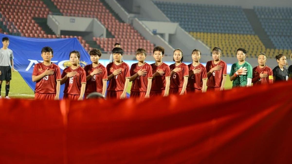 ĐT nữ Việt Nam khởi đầu hành trình săn vé World Cup nữ 2023 tại Trung Á. (Ảnh: Dương Thuật).