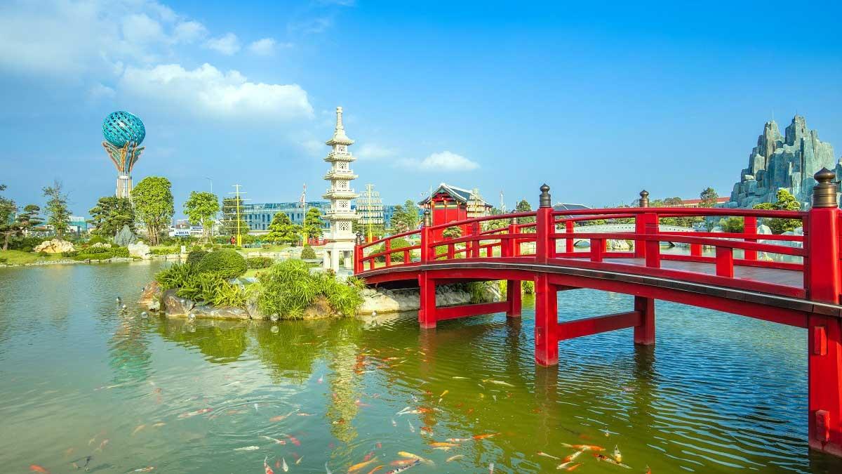 Công viên Nhật Bản Zen Park thuộc bộ 3 cộng viên liên hoàn được đầu tư công phu rất được lòng cộng đồng cư dân quốc tế.