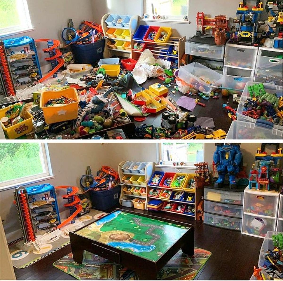 Quá nhiều bộ đồ chơi nhưng giờ thì đâu đã vào đó.