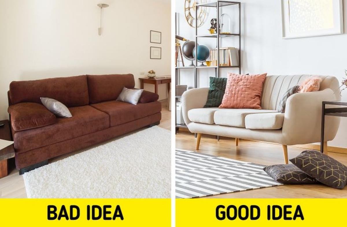 Nội thất không có chân: Đồ nội thất có chân cao để lộ phần sàn phía dưới tạo cảm giác căn phòng lớn hơn thực tế.