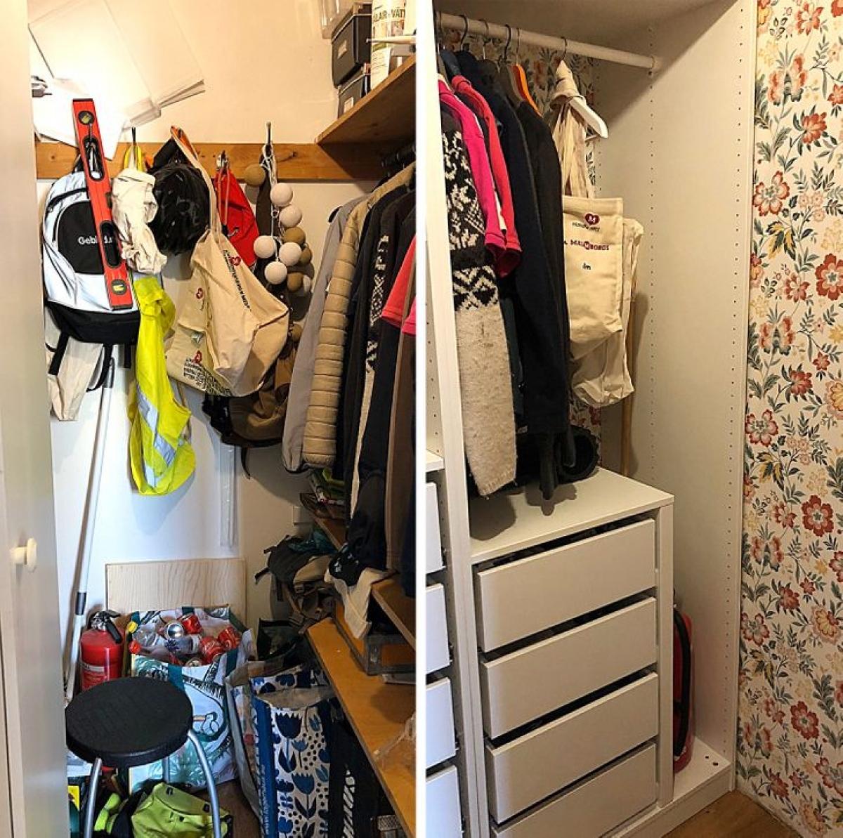 Trước và sau trong tủ quần áo của tôi, thật khó có thể tin rằng đó là cùng một nơi.