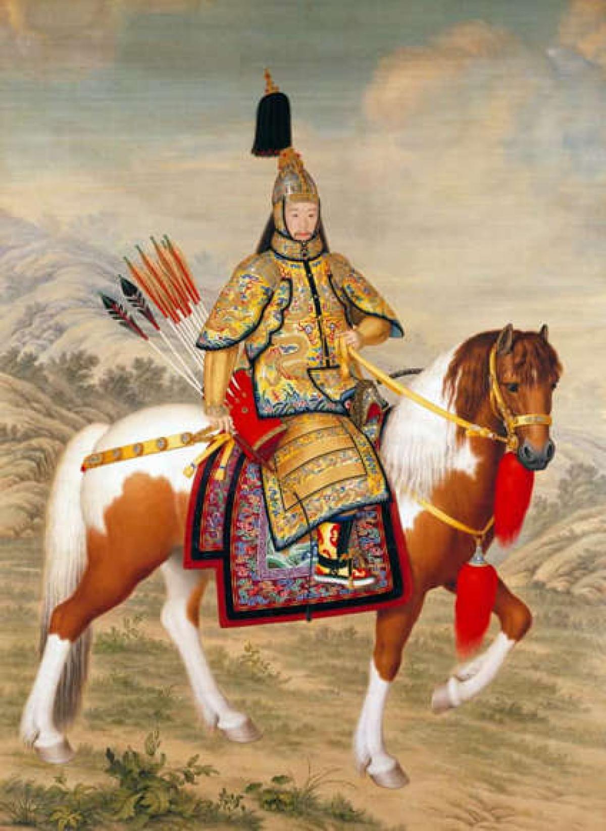 Vua Càn Long. Vị hoàng đế của Trung Quốc đã trị vì trong 60 năm từ năm 1735 đến năm 1796.