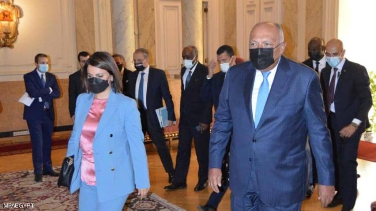 Ngoại trưởng Ai Cập Sameh Shoukry chuẩn bị tham dự hội nghị Berlin-2 về vấn đề Libya - Ảnh: skynewsarabia