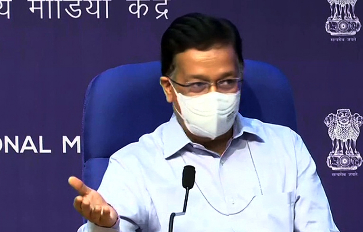 Thứ trưởng Y tế Ấn Độ Rajesh Bhushan tại buổi họp báo ngày 22/6 (ANI)