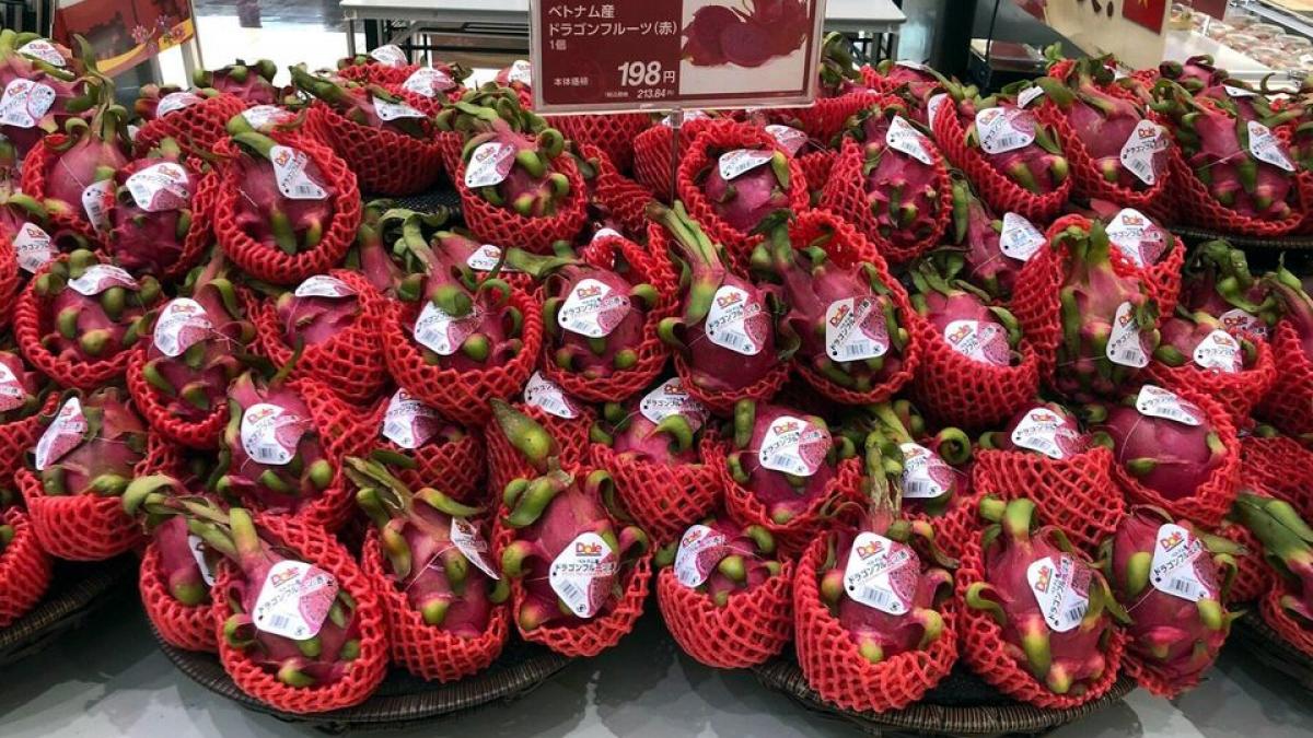 Nhiều loại hoa quả nhiệt đới của Việt Nam được quảng bá trên Hệ thống siêu thị của Aeon.