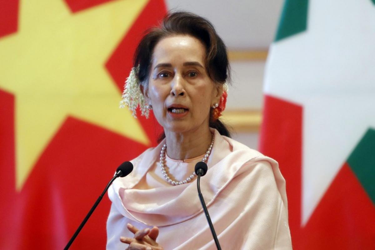 Bà Aung San Suu Kyi (Ảnh chụp vào tháng 12-2019). Ảnh: AP
