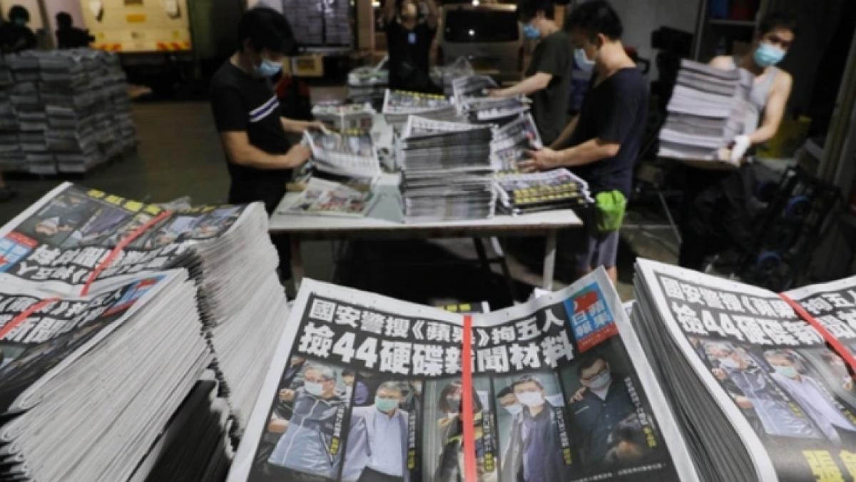 Số báo ngày 18/6 của Apple Daily. (Ảnh: Apple Daily)