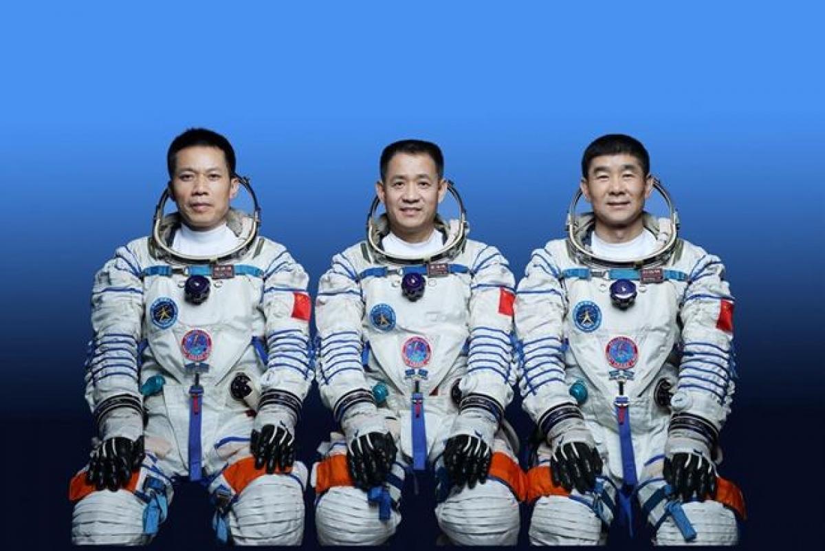 Ba phi hành gia đầu tiên sẽ được đưa lên trạm vũ trụ của Trung Quốc. Ảnh: Cơ quan đưa người vào vũ trụ Trung Quốc.(CMSA).