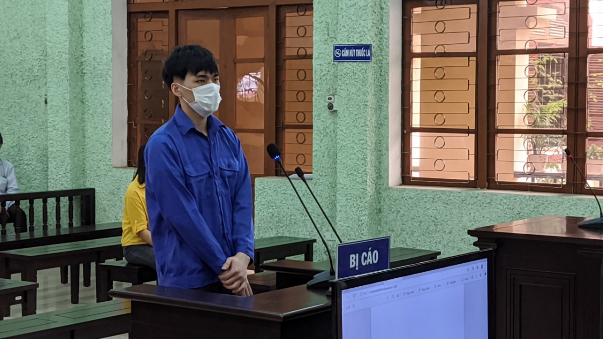 Bị cáo Triệu Văn Mạnh tại phiên tòa