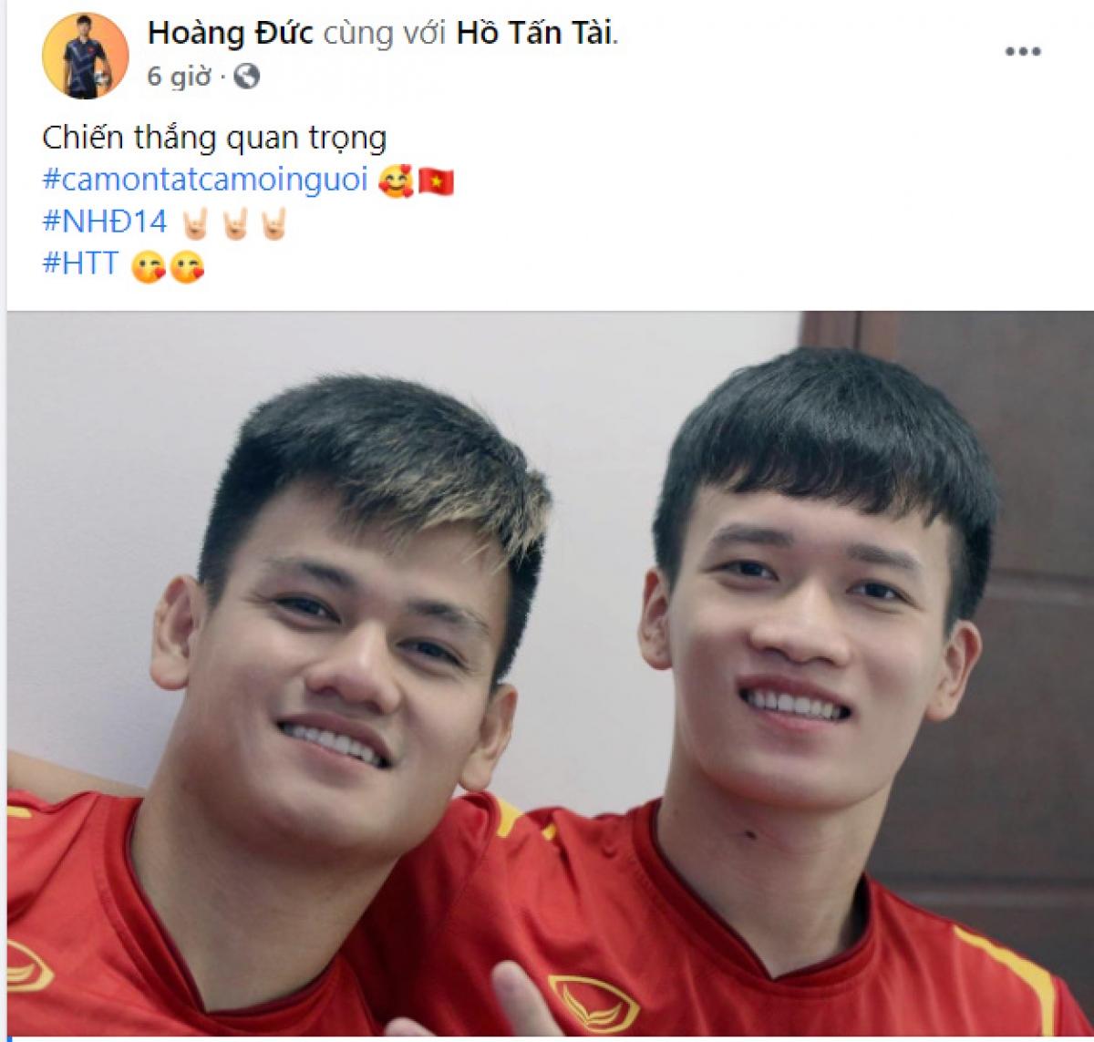 Hoàng Đức chia sẻ cảm xúc khi có lần đầu tiên thi đấu trọn vẹn 90 phút cho ĐT Việt Nam.